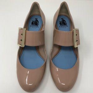 Lanvin Shoes - Lanvin Patent Leather Block Heels
